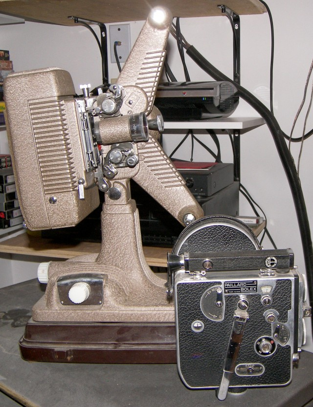 Bolex and 16mm projector