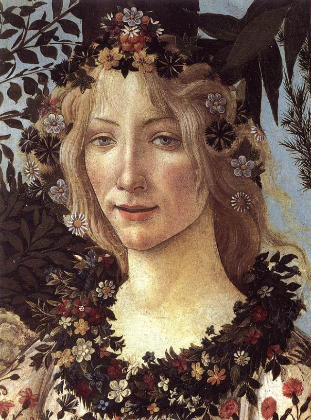 Flora (detail from Primavera) Botticelli